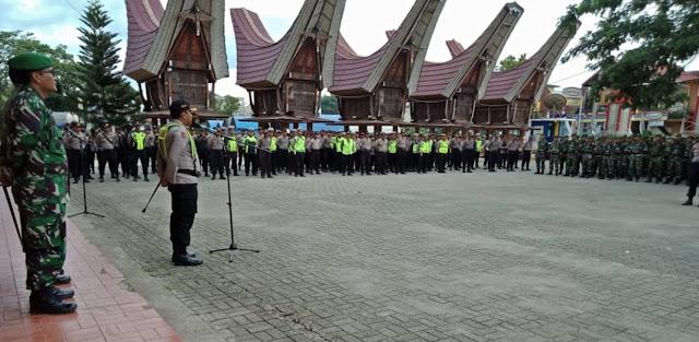 Jelang Tahun Baru, 615 Personil Dikerahkan, Kapolres Tana Toraja: Jangan Ada Gerakan Tambahan