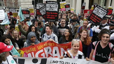 Protesters take to streets of London