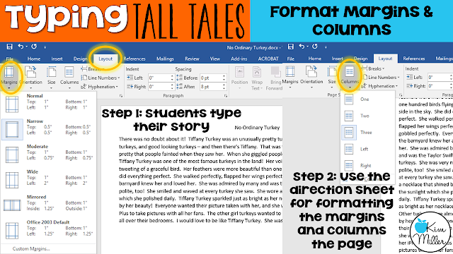 Formatting margins and columns of Tall Tales
