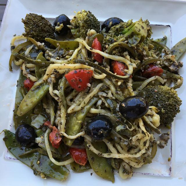 Summer Pasta salad, whole30, paleo