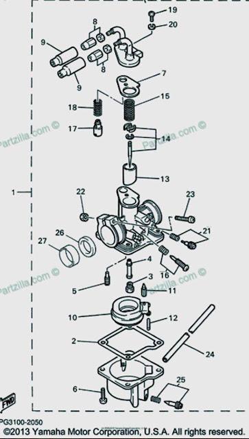 Yamaha Pw50 Carburetor Diagram    Schematic