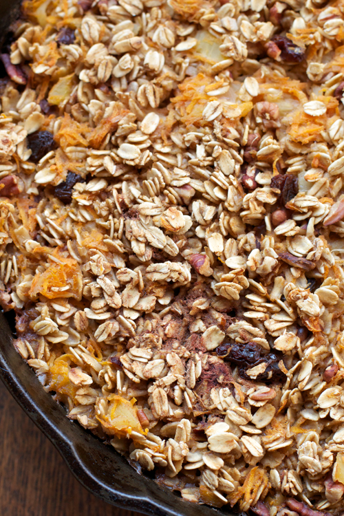 Carrot Cake Baked Oatmeal || A Less Processed Life