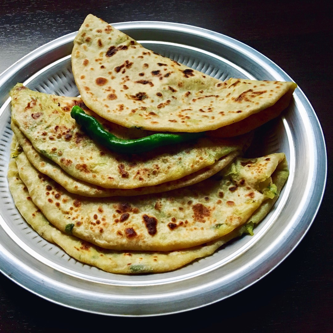 Potato Fenugreek Leaves Stuffed Flat Bread | Aloo Methi Paratha