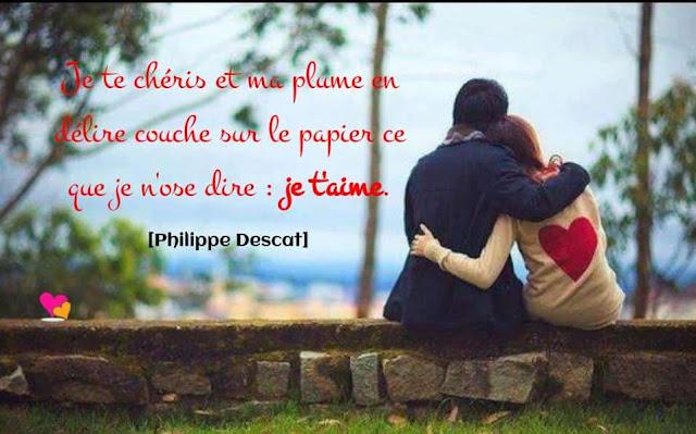 Phrase sur l'amour de Philippe Descat