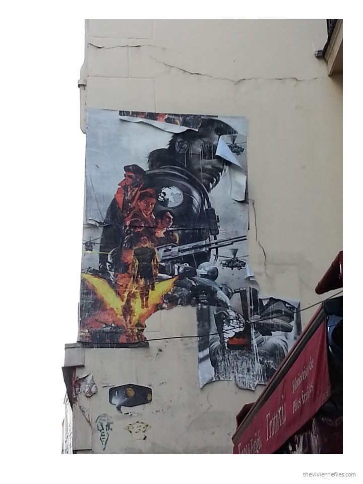 Perfect Paris street art layered science fiction movie images