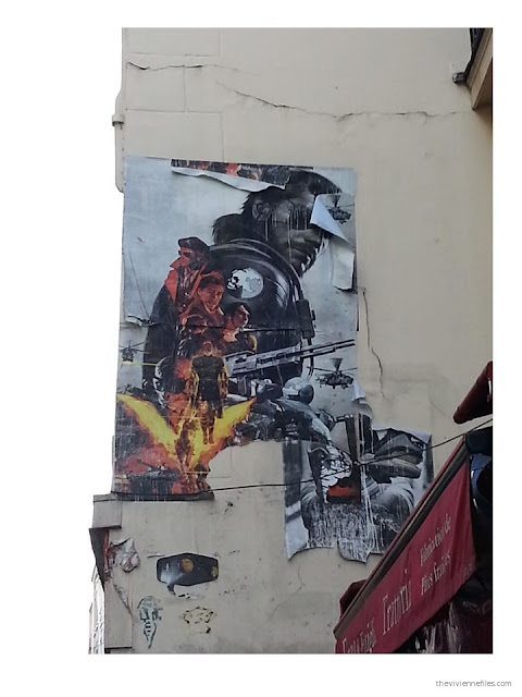 Paris street art layered science fiction movie images