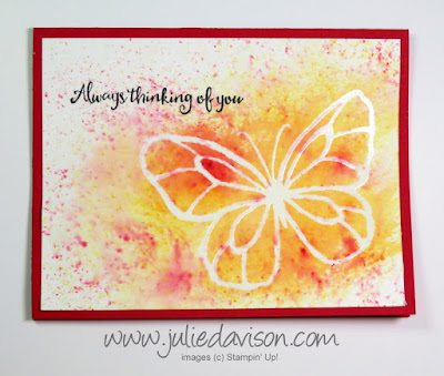 Stampin' Up! 2018 Occasions Catalog Sneak Peek Beautiful Day + Brusho Watercolor Crystal Color ~ www.juliedavison.com