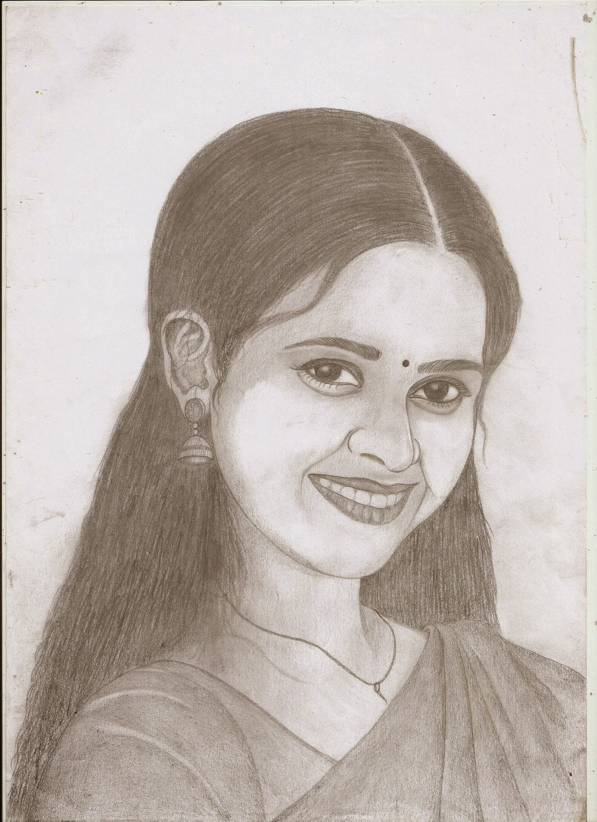 Jackhi pencil drawing sri divya pencil sketch actress sri divya