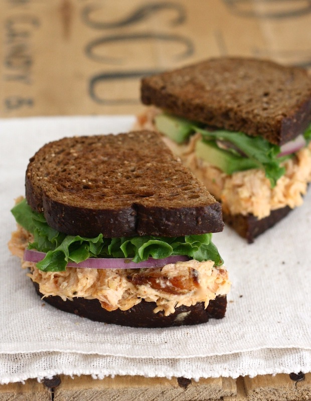 Roasted Salmon Sandwich with Chipotle Mayo recipe by SeasonWithSpice