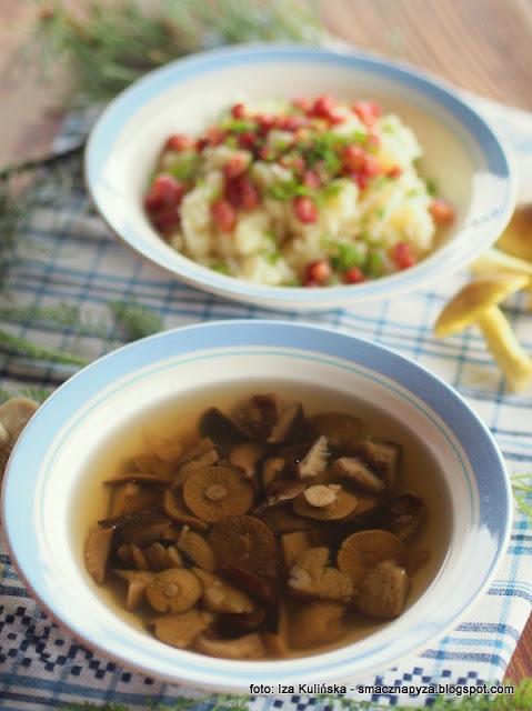 rosol z prosnianek, zupa z gasek, gaski zielonki, prosnianki, gaska zielonka, kurpie, zupa dnia, potrawy regionalne, domowe jedzenie, bulion grzybowy