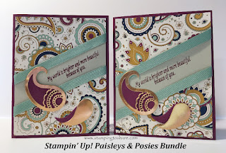 Stampin' Up! Paisleys & Posies Bundle for Thanksgiving by Kay Kalthoff Stamping to Share