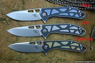 CH Knife CH3509 titanium frame-lock flippers