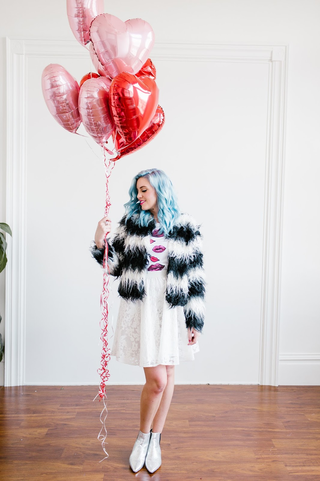 Valentine's Day Outfit, Valentine's Day Look, Fur Coat