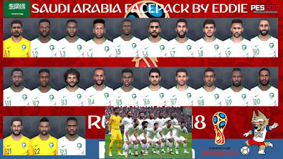 PES 2017 Facepack Saudi Arabia National Team World Cup 2018 by Eddie Facemaker