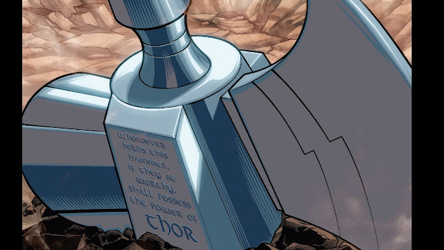 """Aquele que empunhar este martelo, se for digno, possuirá o poder de Thor""."