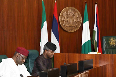 Our President Is Missing O!! Osibanjo Presides Over FEC Meeting While Buhari Absent Again 4