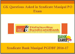 Syndicate Bank Po Exam Papers Pdf