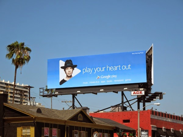 Google Play your heart out Beck billboard