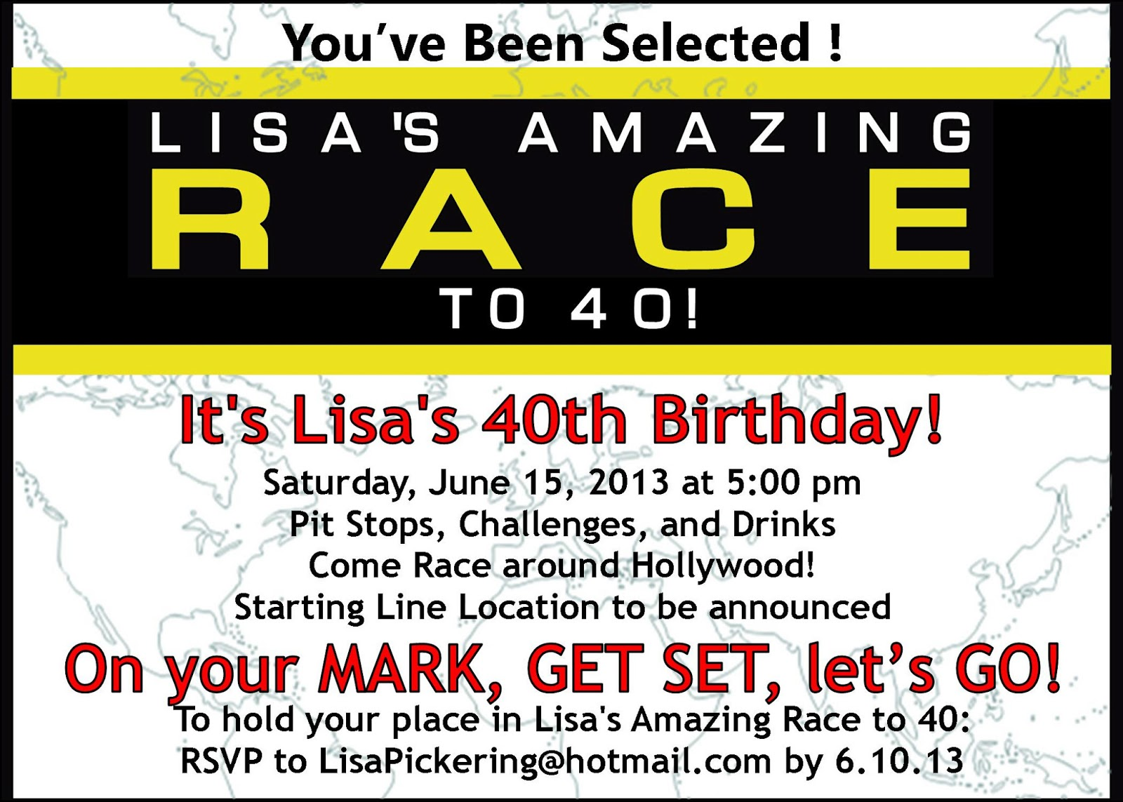 Amazing race templates printable bing images for Amazing race birthday party templates