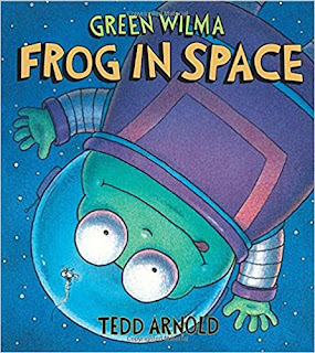 Green Wilma Frog in space book