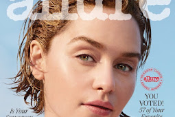 Emilia Clarke Shines In Gold For Allure Beauty Shoot