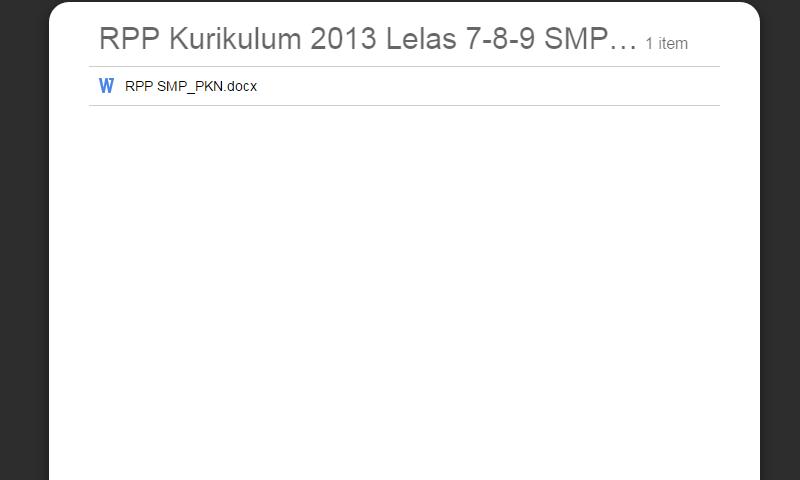 RPP Kurikulum 2013 Lelas 7-8-9 SMP PKN Lengkap Revisi Terbaru