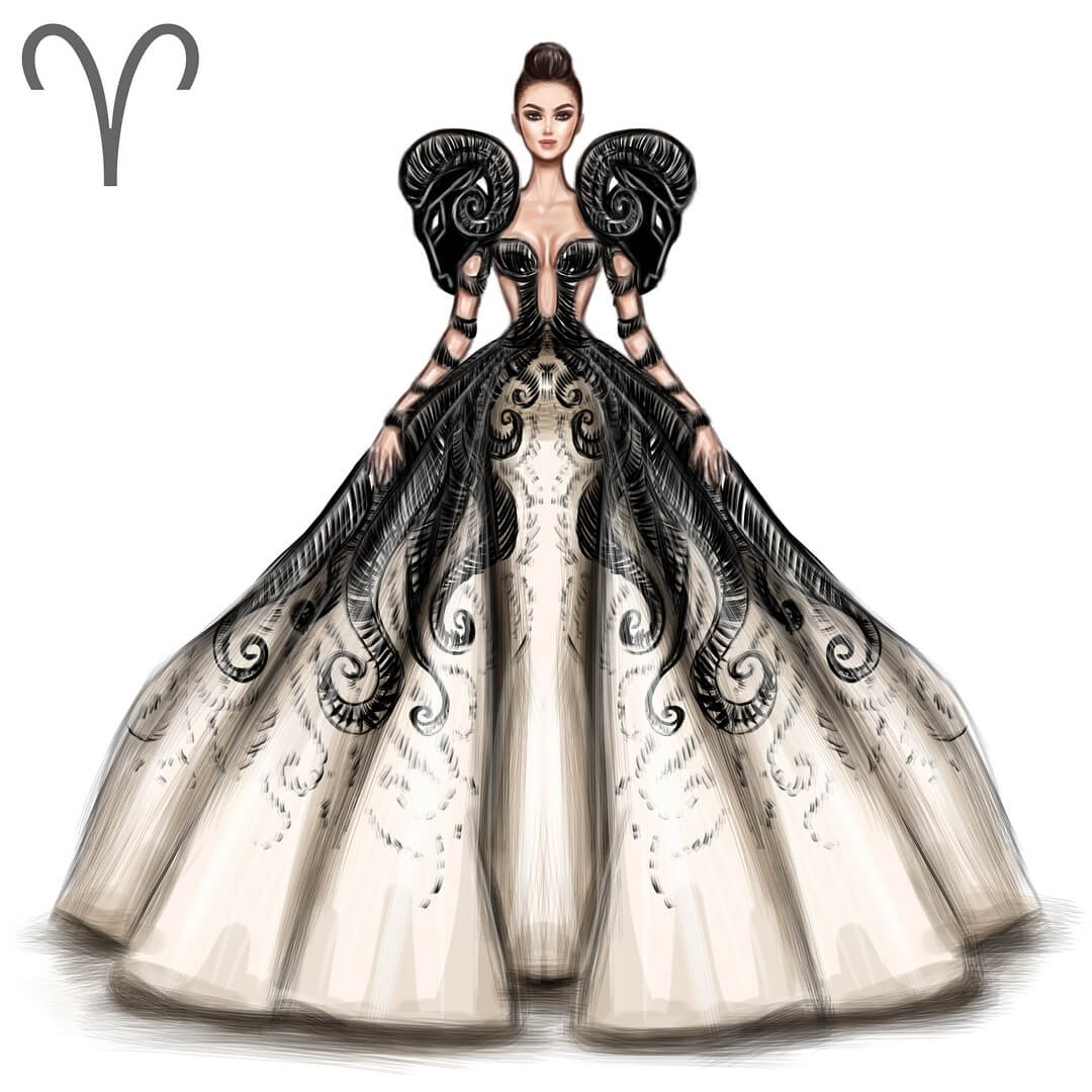 01-Aries-Shamekh-Bluwi-Zodiac-Haute-Couture-Exquisite-Fashion-Drawings-www-designstack-co