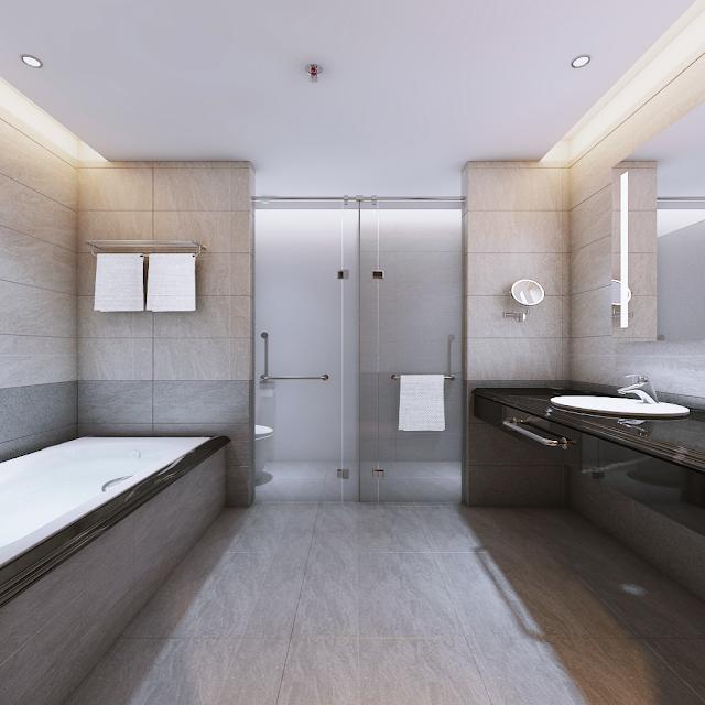 Căn mẫu phòng vệ sinh Luxury Apartment Đà Nẵng