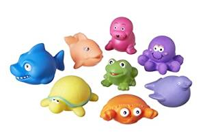 Repackaged Nuby Squirters Bath Time Toys, buy open box, like new, £6.97, AMAZON PRIME
