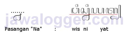 aksara pasangan na dalam penulisan jawa