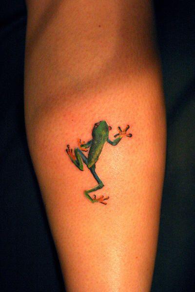 tatuaje de rana