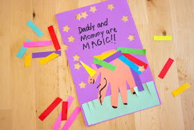 Magical Unicorn Mother's Day Hand Print Card