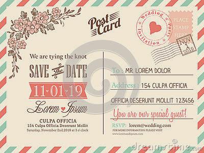 undangan kartu pos