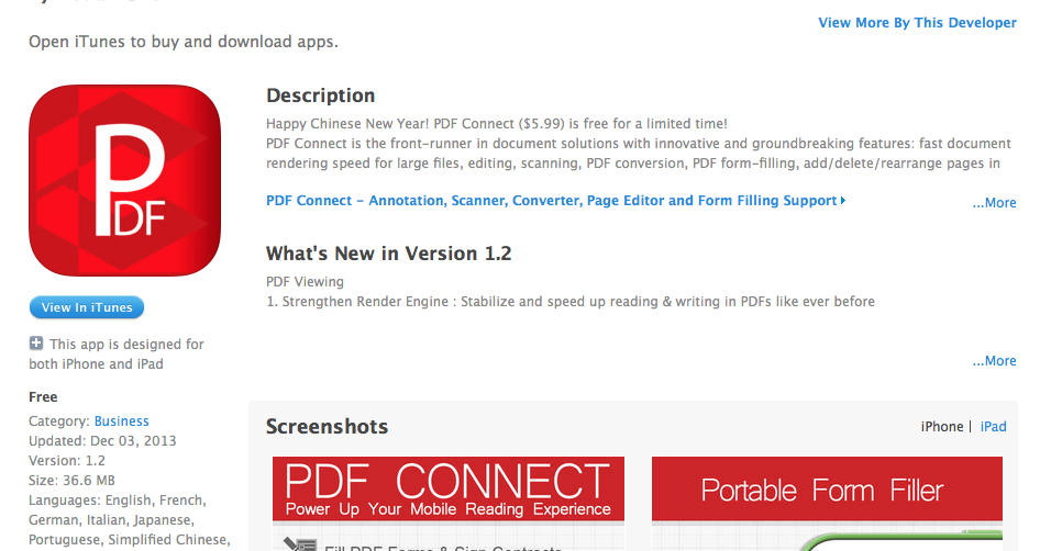 Free iOS App Today: PDF Connect - Annotation, Scanner, Converter