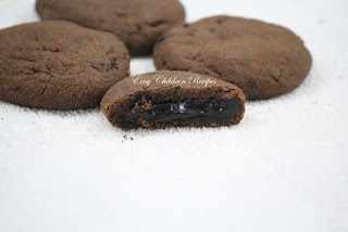 CHOCOLATE FILLED COOKIE / GANACHE FILLED COOKIES / DARK FANTASY COOKIES / SURPRISE COOKIE/ CHOCOLATE COOKIES / LAVA COOKIE/ GANACHE STUFFED COOKIES