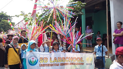 SD Labschool Unnes Meriahkan Karnaval Apitan Kelurahan Sampangan tahun 2016