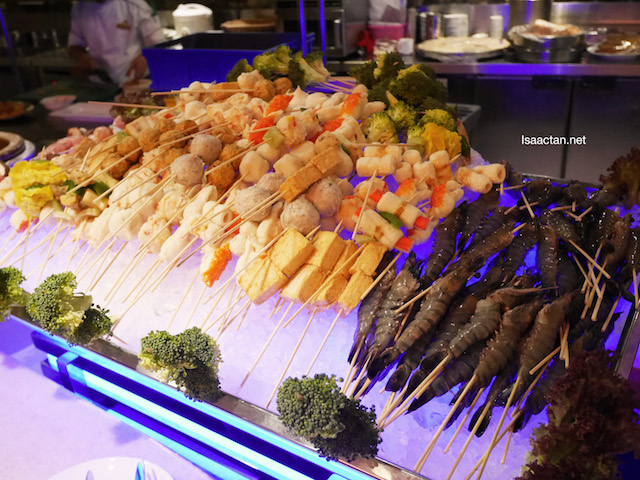 Seafood at the live stations