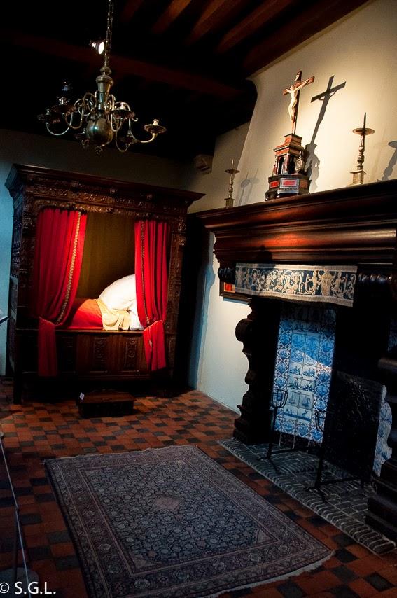 Detalle de la casa de Rembrandt en Amberes en Belgica