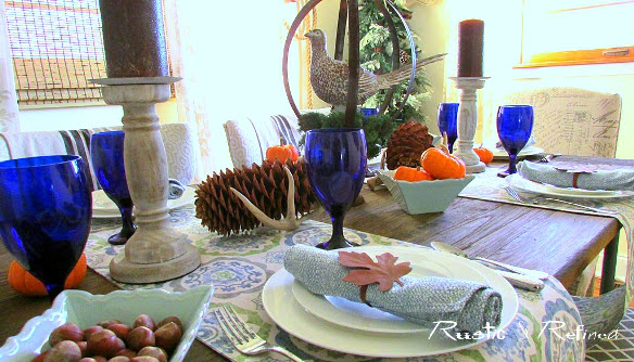 Quick and easy tablescape ideas for Thanksgiving Holiday