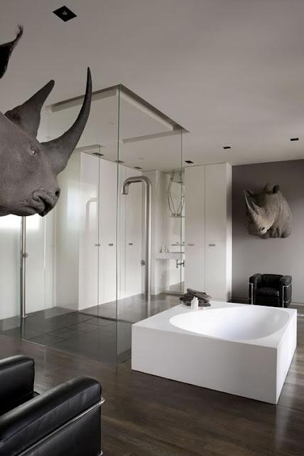 rino in bathroom