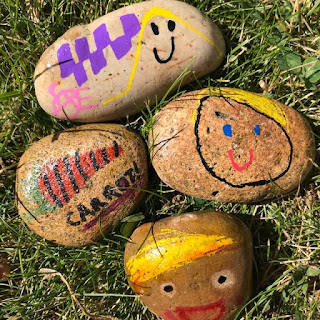 Painted rocks by children