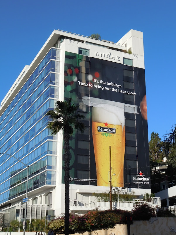 Giant Heineken Holidays beer plow billboard