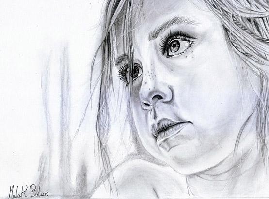 رسومات الأطفال بالرصاص والفحم