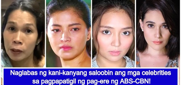 Celebrities react to ABS-CBN's closure order by NTC