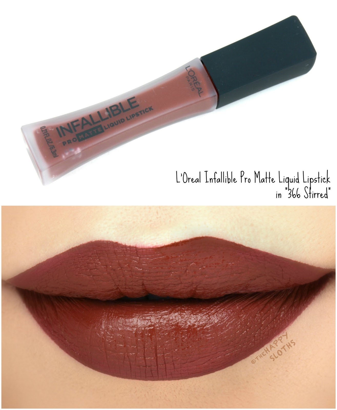 "L'Oreal Infallible Pro Matte Liquid Lipsticks in ""366 Stirred"": Review and Swatches"