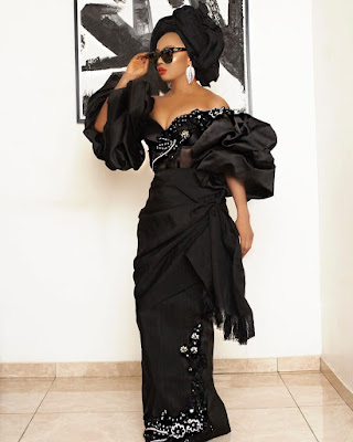 Toke Makinwa in Asoebi