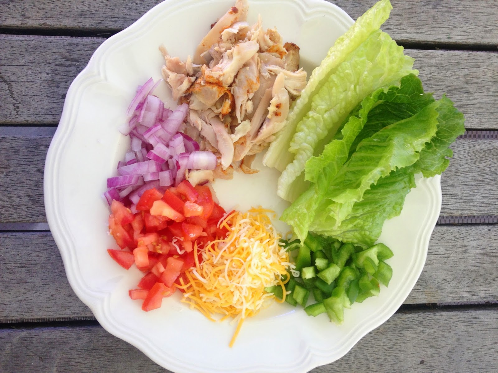 Easy Chicken Lettuce Wrap Ingredients