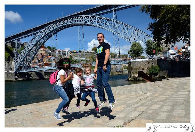 Jumping, puente Luis I, Oporto
