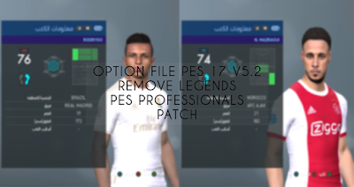 PES 2017 Option File PES Professionals Patch 2017 V5.2 Update