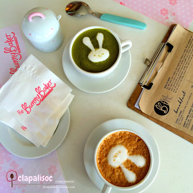 The Bunny Baker Cafe Matcha latte speculoos latte